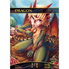 Tokens for MTG - Dragon Token 1/1 (10 pcs)