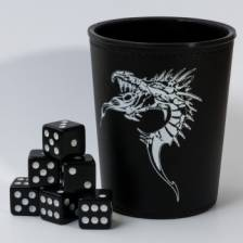 Blackfire Dice - Dice Cup - Black /w Dragon Emblem