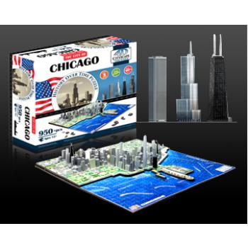 4D Cityscape - Chicago Puzzle