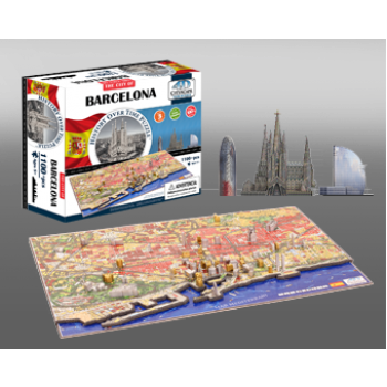 4D Cityscape - Barcelona Puzzle