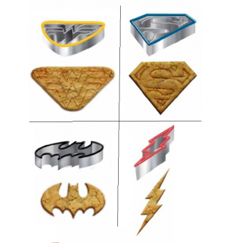 Underground Toys Merch - DC Comic Cookie Cutter Icons Set