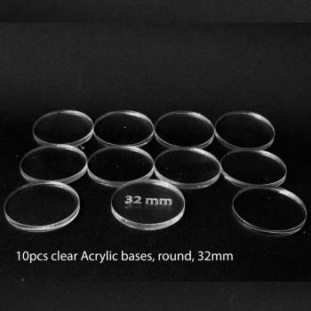 Acrylic Base - Round 32mm (10 Pcs)