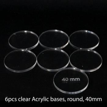 Acrylic Base - Round 40mm (6 Pcs)