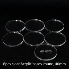 Acrylic Base - Round 40mm (6 Pcs)