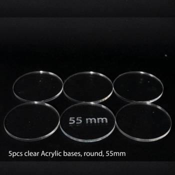 Acrylic Base - Round 55mm (5 Pcs)