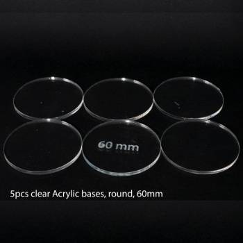 Acrylic Base - Round 60mm (5 Pcs)