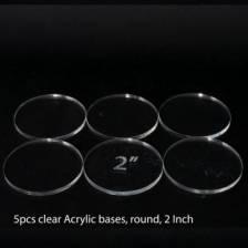 Acrylic Base - Round 2 Inch (5 Pcs)