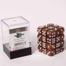 Blackfire Dice Cube - 12mm D6 36 Dice Set - Marbled Coffee