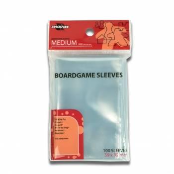 Blackfire Sleeves - Boardgame Sleeves - Medium (59x92mm) - 100 Pcs