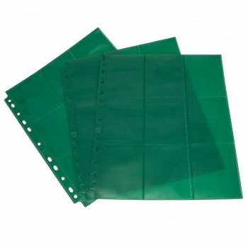 Blackfire 18-Pocket Pages - Green - Sideloading (50 pcs)