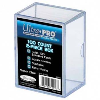 UP - 2-Piece Storage Box - for 100 Cards - Clear