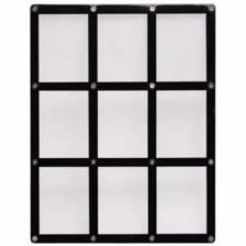 UP - 9-Card Black Frame Screwdown Holder