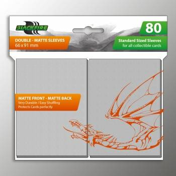 Blackfire Sleeves - Standard Double-Matte Clear (80 Sleeves)