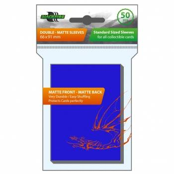 Blackfire Sleeves - Standard Double-Matte Blue (50 Sleeves)