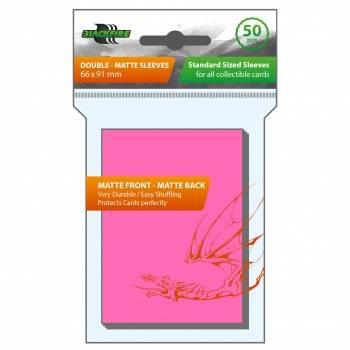 Blackfire Sleeves - Standard Double-Matte Pink (50 Sleeves)
