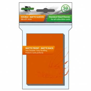 Blackfire Sleeves - Standard Double-Matte Orange (50 Sleeves)