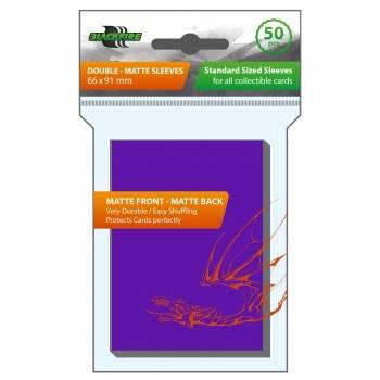 Blackfire Sleeves - Standard Double-Matte Purple (50 Sleeves)
