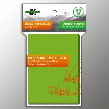 Blackfire Small Sleeves - Double-Matte Lime Green (60 Sleeves)