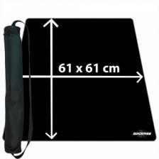 Blackfire Ultrafine Playmat - Black 61x61cm with carrybag