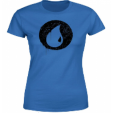 Magic The Gathering Blue Mana Splatter Women's T-Shirt - Royal Blue - XL