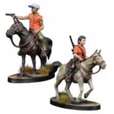 The Walking Dead: All Out War -Maggie and Glenn on Horseback