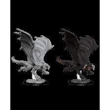 Young Black Dragon: D&D Nolzur's Marvelous Unpainted Miniature (W8)