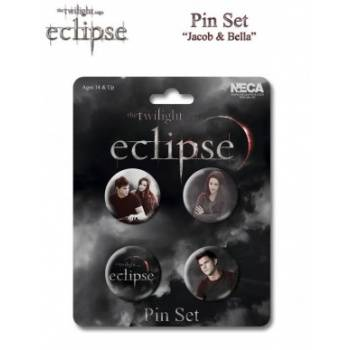 Twilight Eclipse Pin Set Jacob & Bella (4)