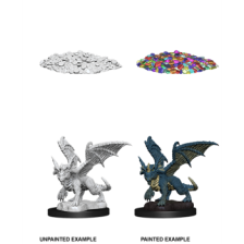 Blue Dragon Wyrmling (PACK OF 6): D&D Nolzur's Marvelous Unpainted Miniatures (W10)