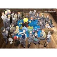 Assassination Classroom Wallscroll XL - Koro with Class 3-E