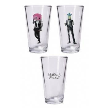 Umbrella Academy: Hazel and Cha Cha pint glass set
