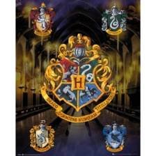 GBeye Mini Poster - Harry Potter House Crests