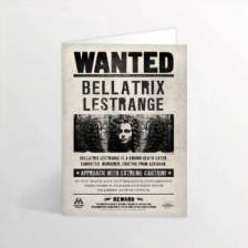 Harry Potter - Bellatrix Lestrange Wanted Poster Lenticular Notecard