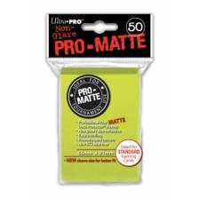UP - Standard Sleeves - Pro-Matte - Non Glare - Bright Yellow (50 Sleeves)