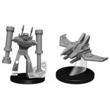 Transformers Deep Cuts Unpainted Miniatures - Laserbeak and Frenzy (4 Units)