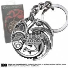 Game of Thrones - Targaryen Keychain (chrome-gray)