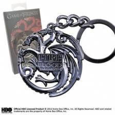 Game of Thrones - TARGARYEN Sigil Key Chain (steel gray)