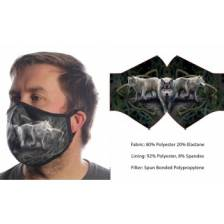 Wild Bangarang Face Mask - WOLF Anne Stokes Size M