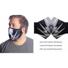 Wild Bangarang Face Mask - BLACK DRAGON Size M