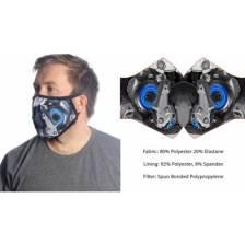 Wild Bangarang Face Mask - Blue Mecha Size L