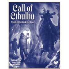 Call of Cthulhu RPG - 7th Edition Quick-Start Rules