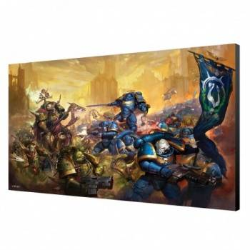 Ultramarine vs Nurgle Wood Panel - Warhammer 40K