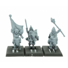Warlords of Erehwon - Halfling Goat Rider Heroes & Command
