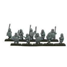 Warlords of Erehwon - Halflings with Spears