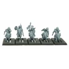 Warlords of Erehwon - Halfling Goat Riders with Spears