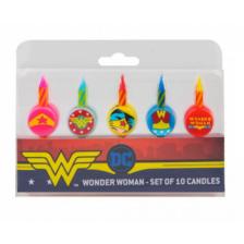Wonderwoman Birthday Candles (Set of 10)