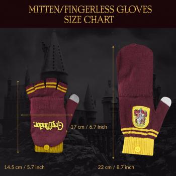 Gryffindor Mitten/Fingerless Gloves