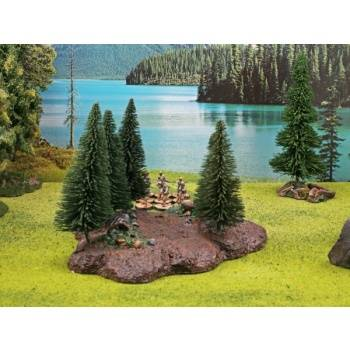 Ziterdes - Forest Base with 10 Trees Tabletop Terrain, removable