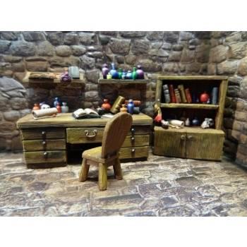 Ziterdes - Study: Desk, Chair & Sorcerer Table (3 pieces)