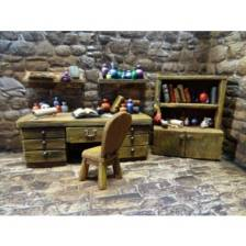 Ziterdes - Study: Desk, Chair & Sorcerer Table (3 pieces)