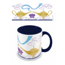 Pyramid Coloured Inner Mugs - Aladdin (Magic Mug) Blue